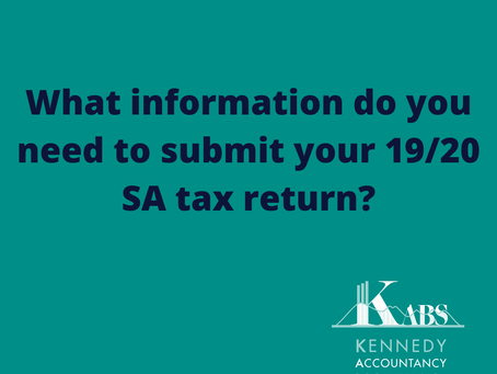 What information do you need to submit your 2019/20 Self Assessment Tax Return?