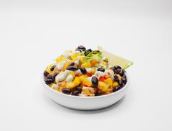 Mango Salsa Chicken Rice Bowl With Black