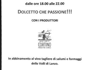 Aperitivo Degustazione Dolcetto di Diano DOCG Perbacco Vineria