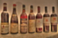 Bottiglie storiche della Aziena Agricola Cortino