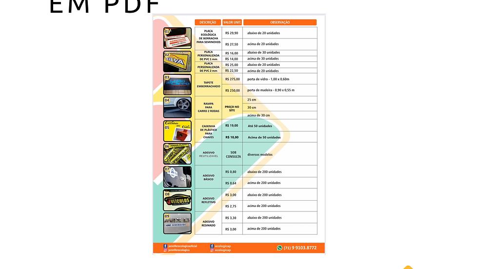 Criamos Catálogo em PDF