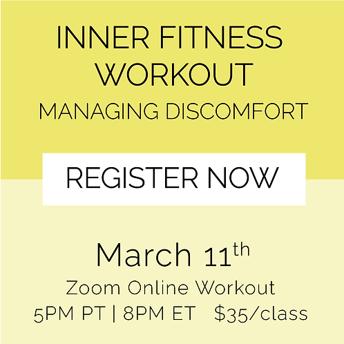 IFW: Managing Discomfort - March 11th