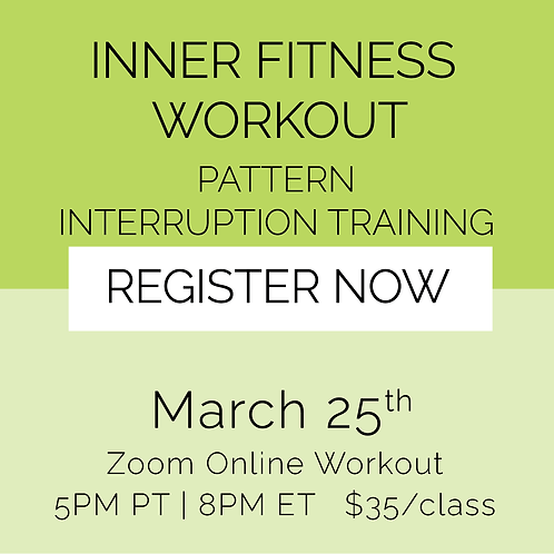 IFW: Pattern Interruption Training - March 25th