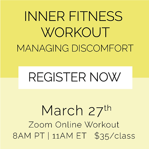IFW: Managing Discomfort - March 27th