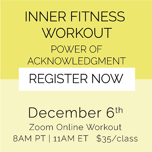 IFW: Power of Acknowledgment - December 6th