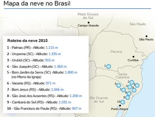 Veja 10 cidades em que há possibilidade de neve no Brasil