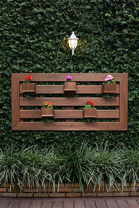 Floreira Horizontal 60x120cm com 4 Cachepot