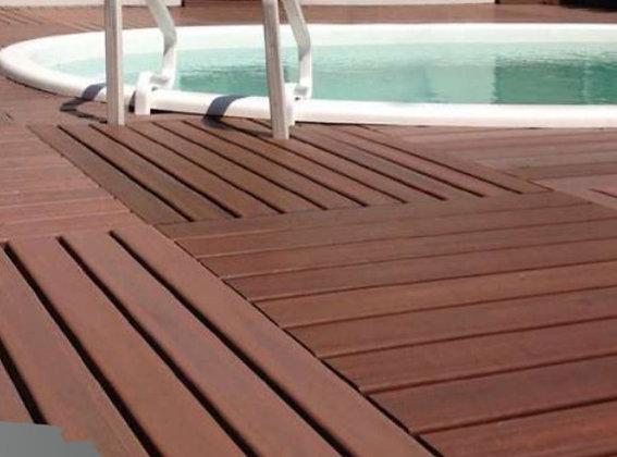 Deck Modular - Madeira Plástica 100x100 - Ipê