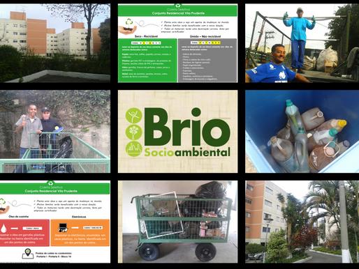 Condomínio implanta coleta seletiva em parceria com a Brio Socioambiental.