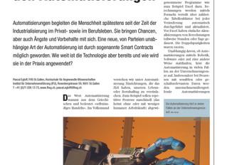 MB-Revue Artikel: Blockchain zur Automatisierung