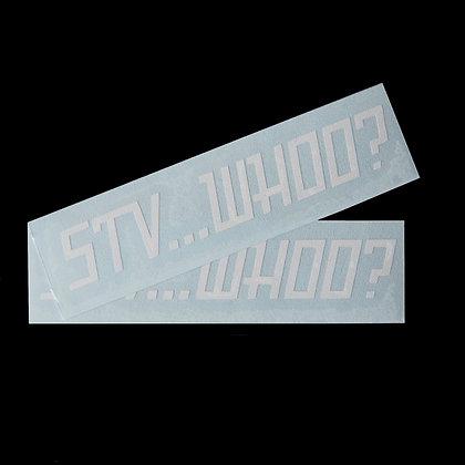 STV...WHO? - Decals