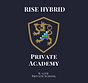 RISE Hybrid Private Academy Logo lion with sword on shield