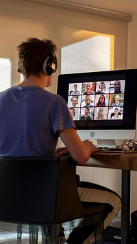 Student in video call lesson