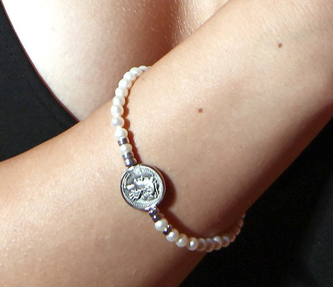 Didramma Pearl Bracelet - Silver - Venus