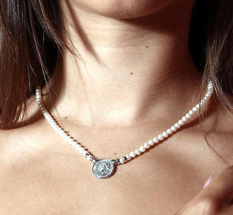 Didramma Pearl Necklace - Silver - Venus