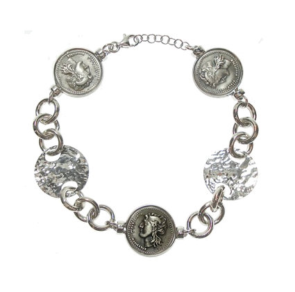 Didramma - Silver Chain Bracelet - Apollo