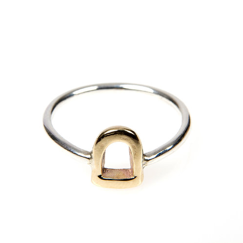 9ct Yellow Gold Stirrup Ring