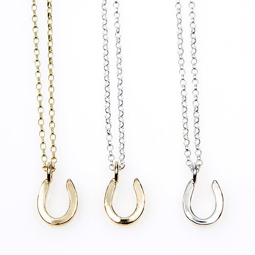 Sterling Silver MAXI Horseshoe Necklace