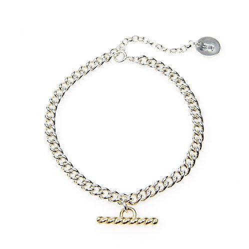 Sterling Silver Rope Bar Bracelet