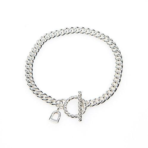Chunky Sterling Silver T-Bar Bracelet