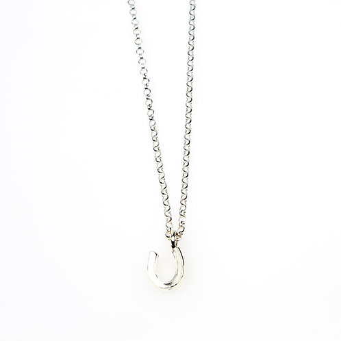 Sterling Silver MINI Horseshoe Necklace
