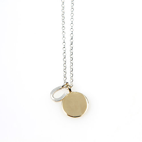 9ct Yellow Gold MINI Disc Necklace