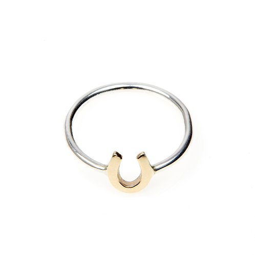 9ct Yellow Gold Horseshoe Ring