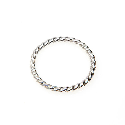 Sterling Silver Rope Twist Stacking Ring