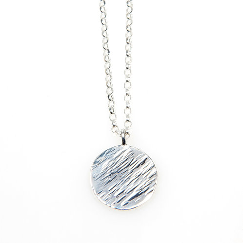 Sterling Silver MAXI Disc Necklace