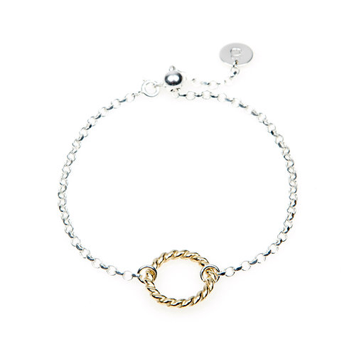Sterling Silver Halo Rope Bracelet