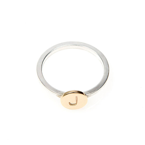 9ct Yellow Gold Disc Ring