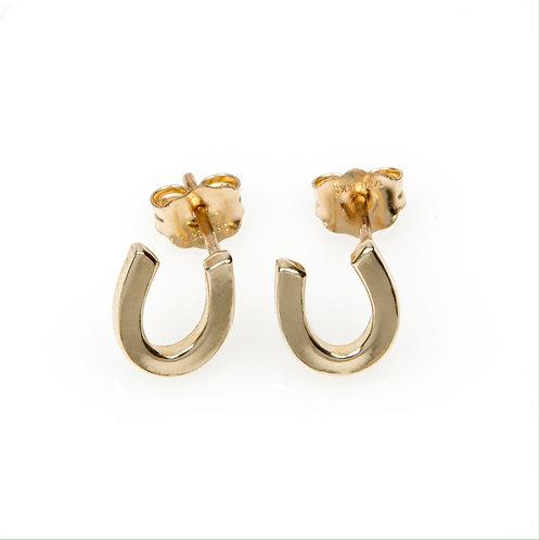 9ct Yellow Gold Horseshoe Stud Earrings