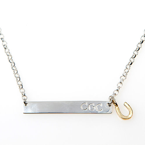 Sterling Silver Necklace with Sterling Silver Bar