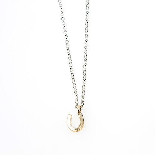 9ct Yellow Gold MINI Horseshoe Necklace