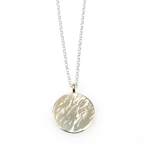 Solid 9ct Yellow Gold MAXI Disc Necklace
