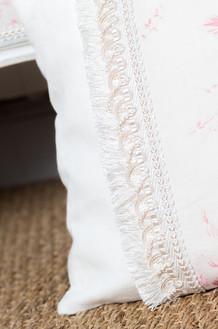 Effilé sur coussin décoratif