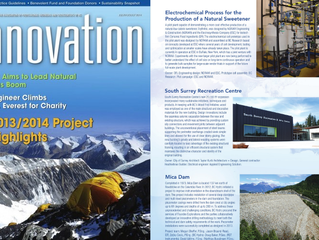 BCRI featured in APEGBC's Innovation Magazine : 2013/2014 Project Highlights