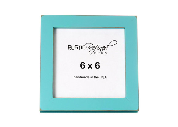 """6x6 1"""" Gallery Picture Frame - Turquoise"""