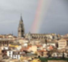 Arco Iris sobre la Catedral de Toledo