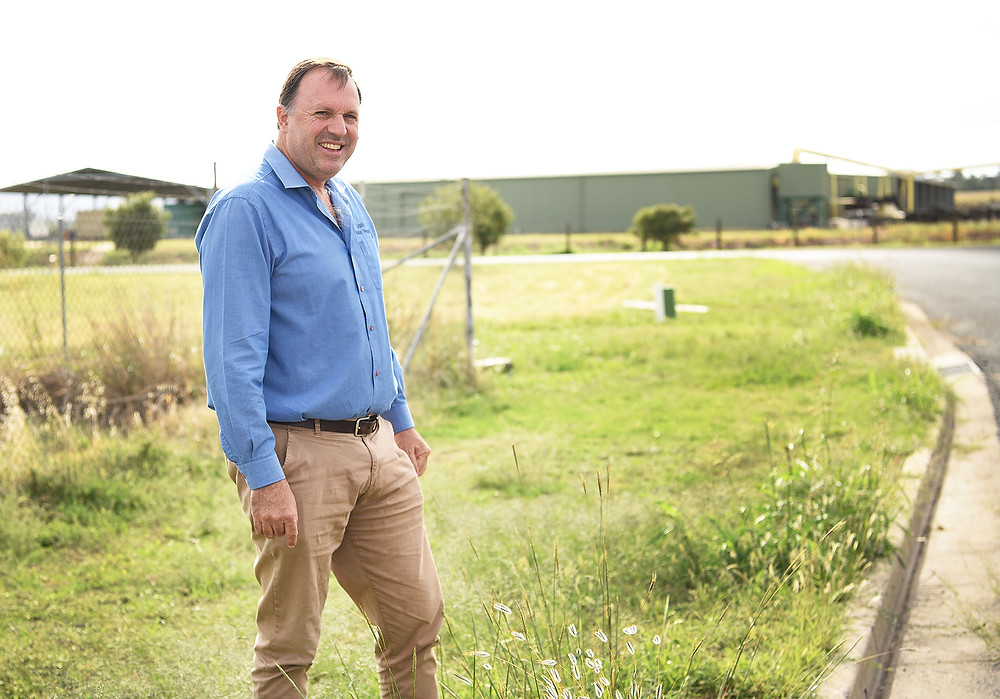 Water Services Manager Rod Batterham at site of proposed new build.