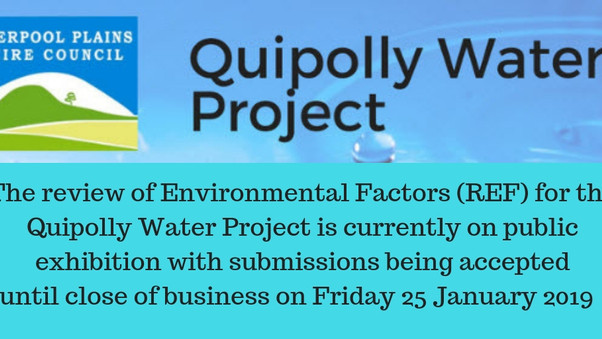 Review of Environmental Factors for the Project is on Public Exhibition