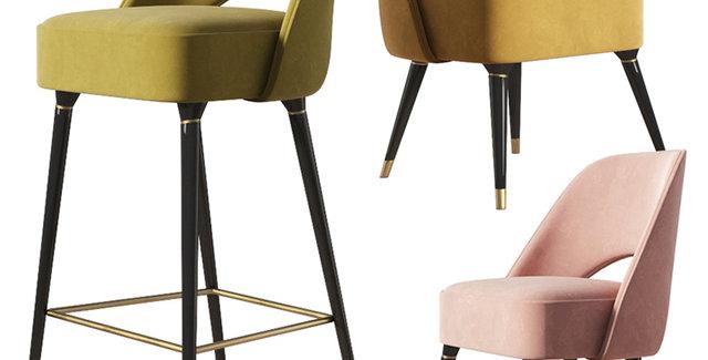 Collins Chair & Barstool Set EssentialHome