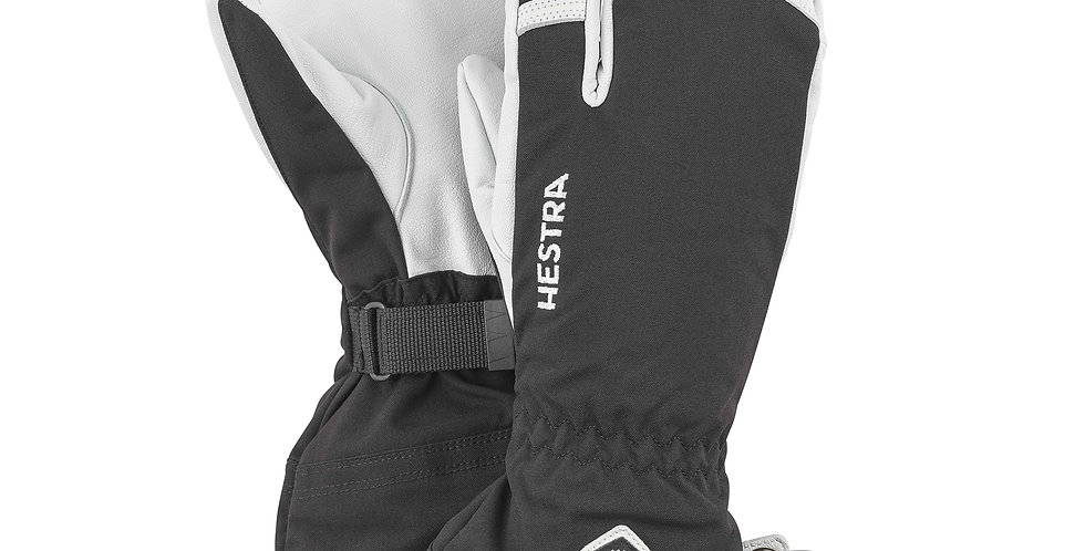 Hestra Army Leather 3 Finger Black