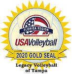 Legacy Volleyball of Tampa Gold Seal 20.