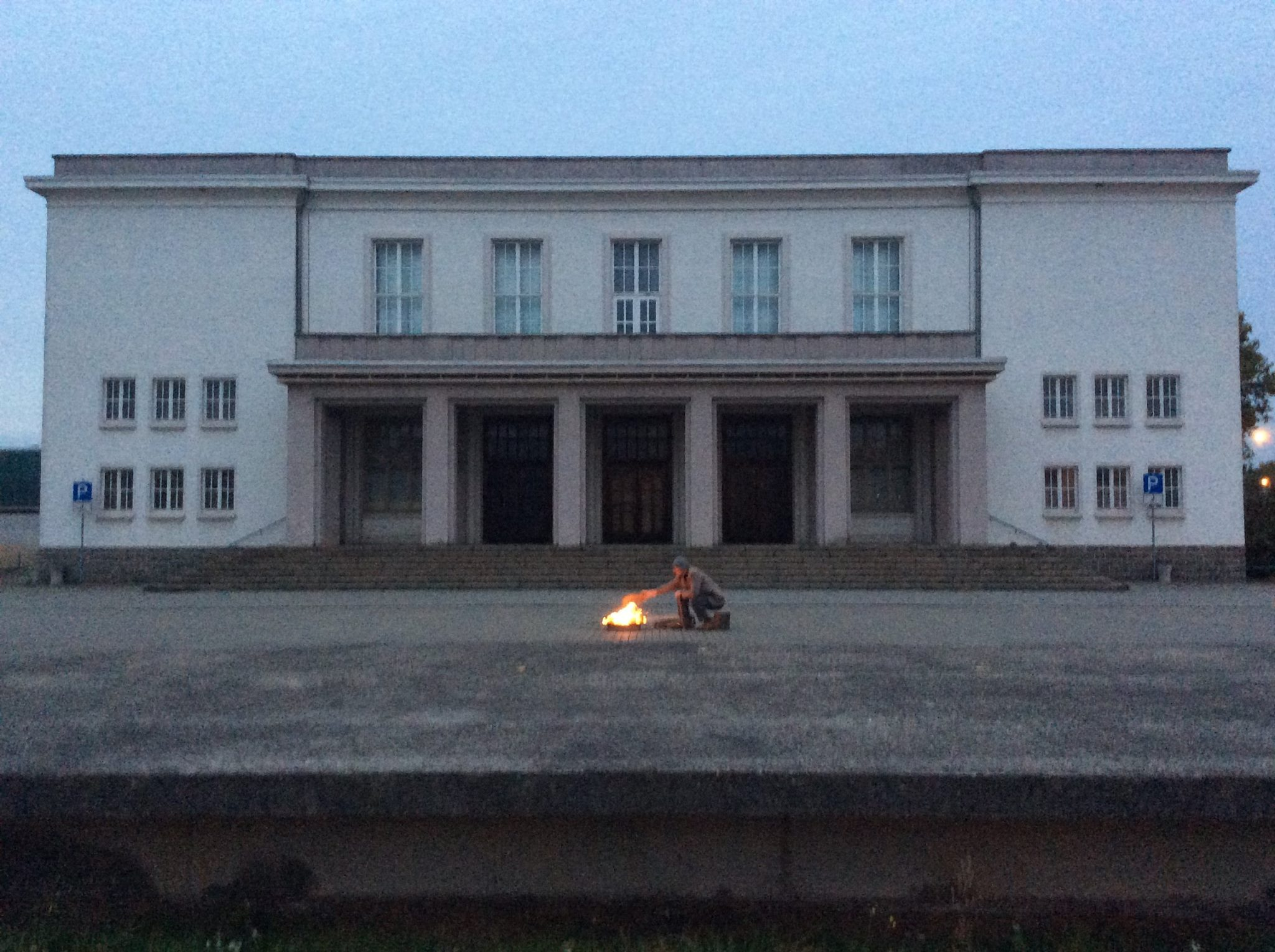 Feuer vorm Kulturpalast