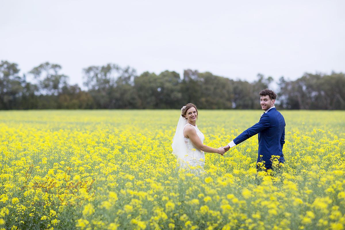 Wedding Canola Fields