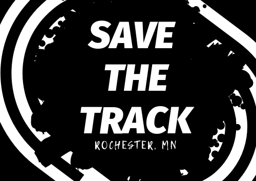 Save the Track sign
