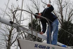 Ryan fixing up the J24