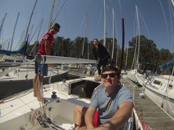 Keelboat practice for Easter Regatta