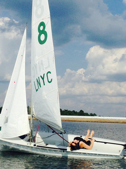 Commodore Kate relaxing Fall '15